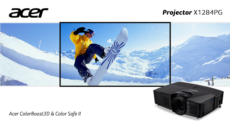 Proyektor Acer X1284PG Colorboost