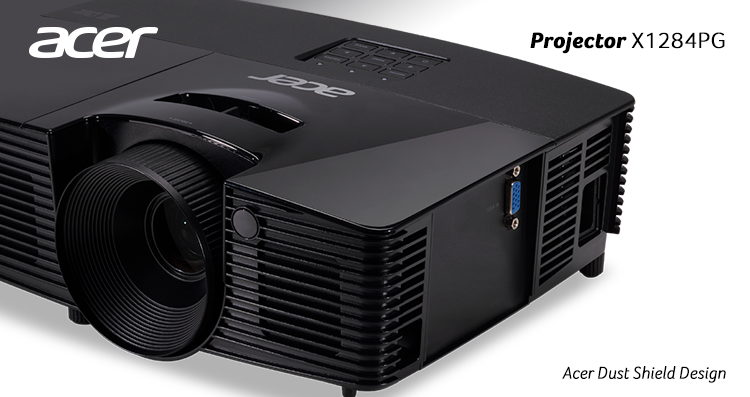 Proyektor Acer X1284PG Dust Shield